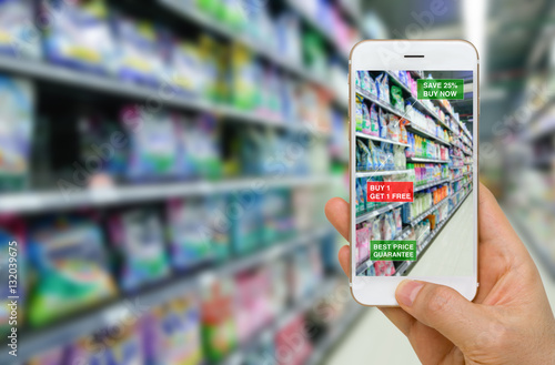 Application of Augmented Reality in Retail Business Concept in Supermarket for Discounted or on Sale Products