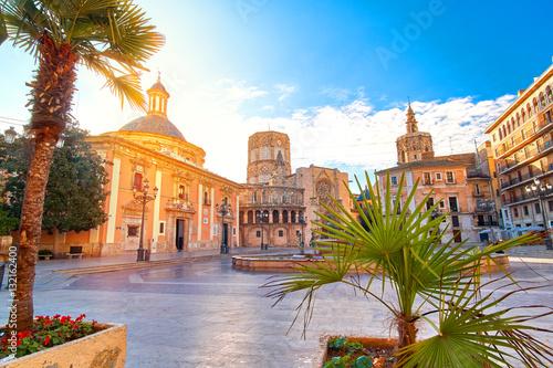 Valencia Spain Virgin Square