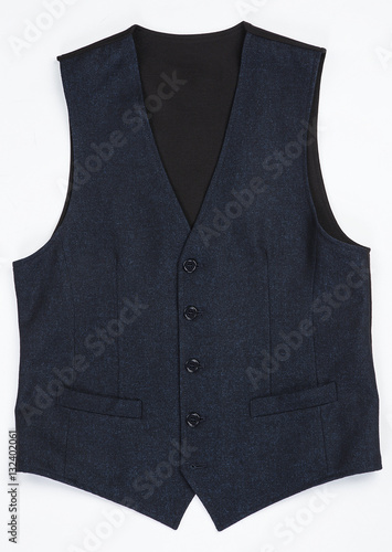 Photo waistcoat isolated on white background. clipping path