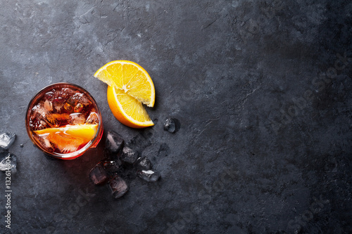 Photographie Negroni cocktail