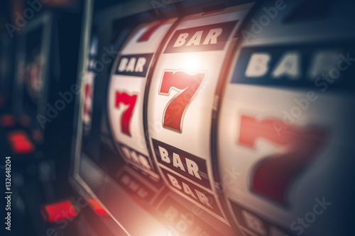 Leinwand Poster Casino Slot Games Playing