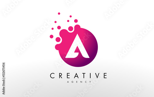 Stampa su Tela Letter A Logo. A Letter Design Vector