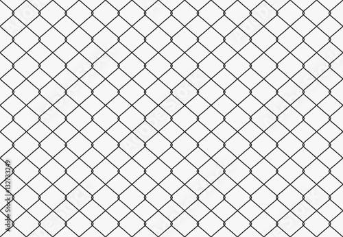 Slika na platnu Seamless Metal wire mesh. Vector