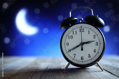 Alarm clock in the middle of the night insomnia