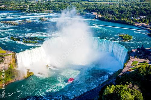 Canvas Print Niagara falls aerial view