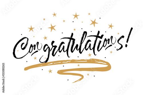 Congratulations card, Congrats Fototapeta