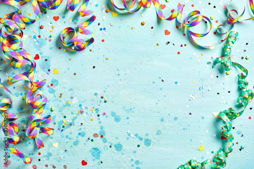 Leinwand Poster Festliche Party oder Karnevalsgrenze