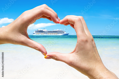 Fotografering Cruise vacation concept