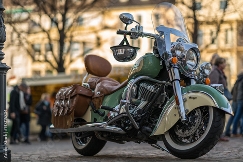 Canvas Print Indian Motorcycle