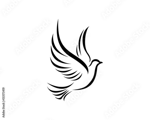 Fotografering Bird wing Dove Logo Template vector illustration