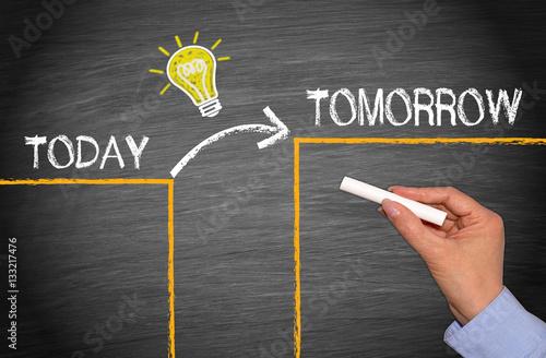 Slika na platnu Great Idea Change and Evolution Concept - Today and Tomorrow