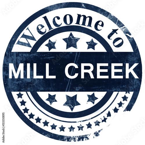 mill creek stamp on white background Fototapet