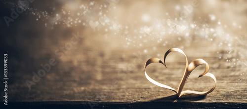 Fotografia, Obraz Magic ribbon hearts
