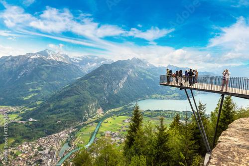 Obraz na płótnie Observation deck in Interlaken
