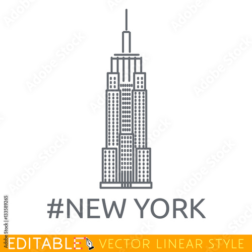 Fotografia, Obraz New York City Empire State Building