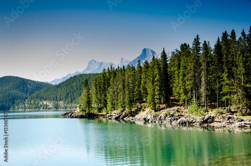 Lake Minnewanka in Banff National Park, Alberta, Canada