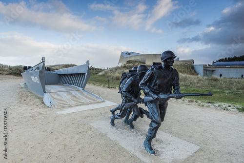 Photo Utah Beach invasion landing memorial,Normandy,France