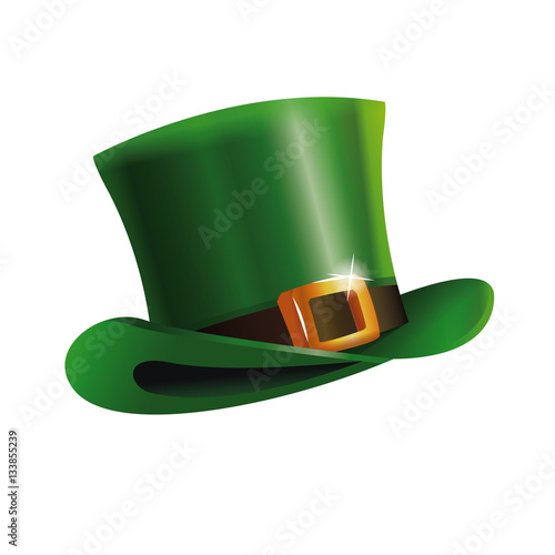 green st patrick day hat icon vector illustration eps 10 Fototapeta