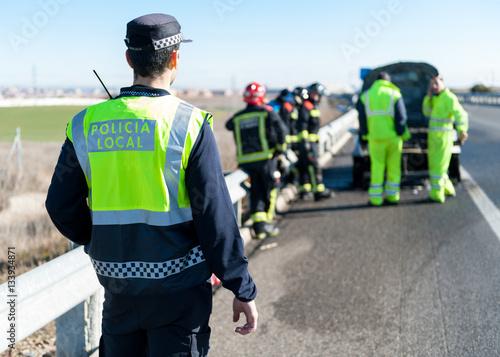 Obraz na płótnie Policia Local