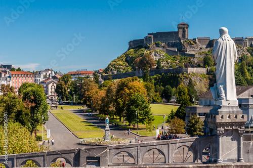 Fototapeta Lourdes, France, lieu de pèlerinage.