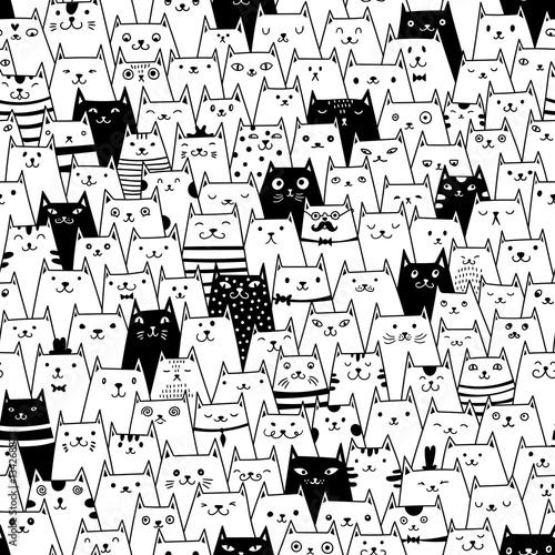 Koty bez szwu wektor wzór