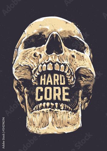 Hard Core Skull Fototapeta