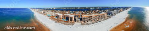 Fotografia, Obraz FORT WALTON, FL - FEBRUARY 5, 2016: Aerial panoramic view of cit