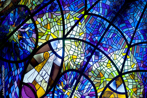 Fotografia, Obraz church window, stained glass