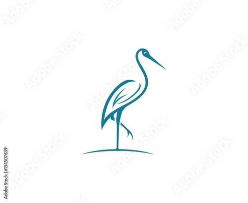 Fotografie, Tablou Stork logo