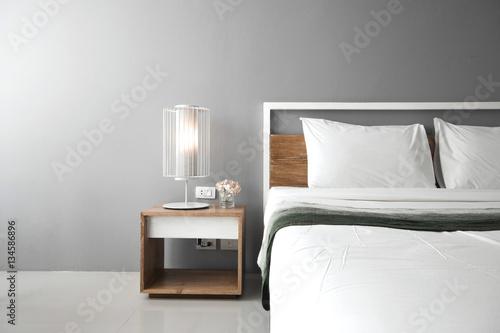 Modern bedroom design, Double bed Tapéta, Fotótapéta