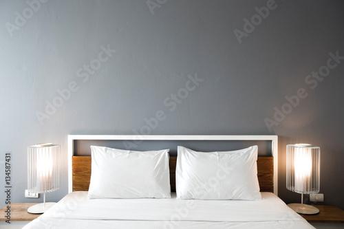 Vászonkép Modern bedroom design, Double bed