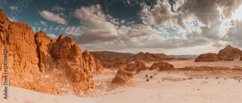 Billede på lærred Panorama Sand desert Sinai, Egypt, Africa