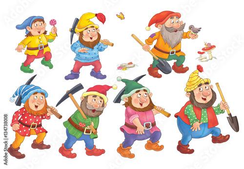 Wallpaper Mural Snow White and the seven dwarfs