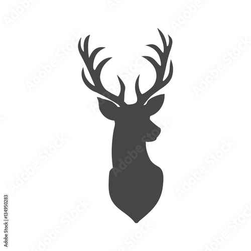 Fototapeta premium Wektor ilustracja głowa jelenia - ilustracja