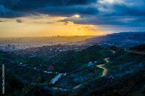 Sunset from the Hollywood Hills Fototapeta