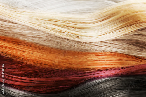 Canvas-taulu Colorful hair background. Hairstyles and care concept