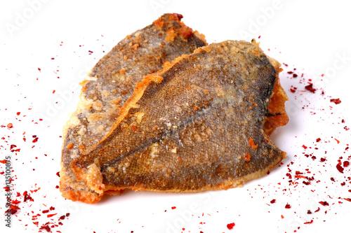 Fotografie, Tablou Fried flounder fishes