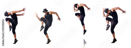 Foto Muscular dancer isolated on white