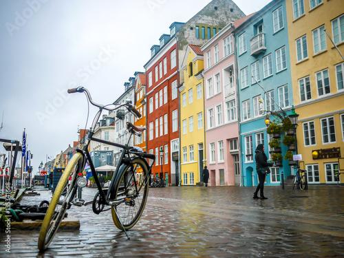 Canvas Print Copenhagen by bike