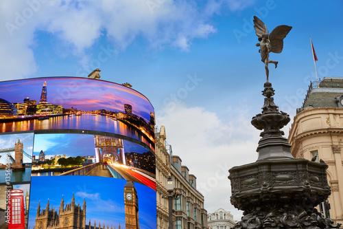 фотография Piccadilly Circus London digital photomount