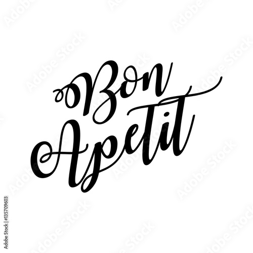 Vászonkép Bon Apetit lettering vector