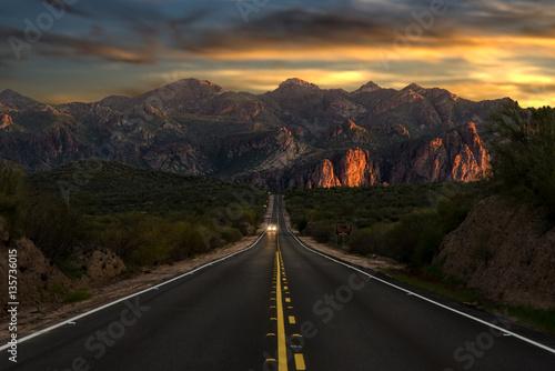 Canvas Print Sunset Highway