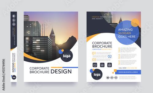 Fotografia poster flyer pamphlet brochure cover design layout space for photo background, v