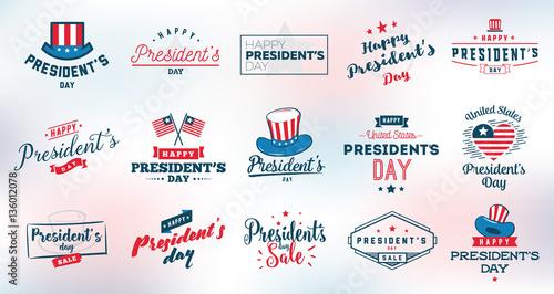 Fotografia Presidents day vector typography.