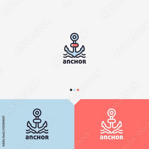 Vászonkép Anchor Logo Design Template