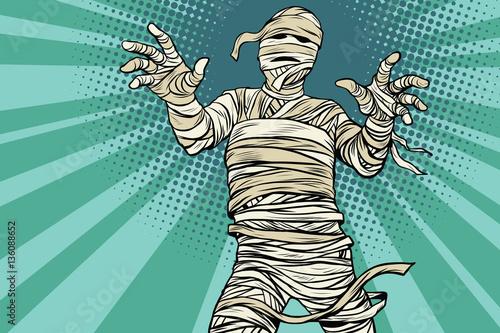 Tablou Canvas Vintage Egyptian mummy horror movie and Halloween