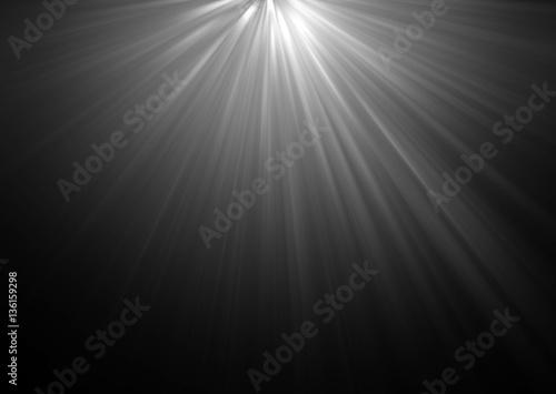 Obraz na plátně abstract beautiful rays of light on black background.
