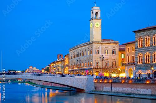 Stampa su Tela Pisa by night