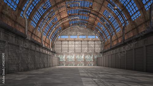 Fotografia Alter verlassener Hangar