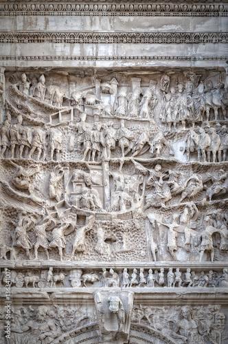 Rome Arch of Titus Relief Fototapeta